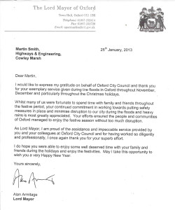 Lord Mayor Letter